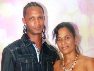 Asif Hafeez and wife, Abiola Garnette a few days before his death