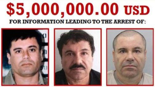 Guzman (right) was one of the world's most wanted drug traffickers