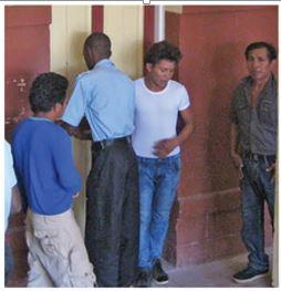 The three accused: -David Edwards, Peter Edwards and Cleveland Edwards