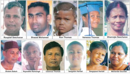 The victims of the 2008 Lusignan Massacre