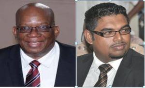 Minister of Finance, Winston Jordan and PPP/C MP Irfaan Ali