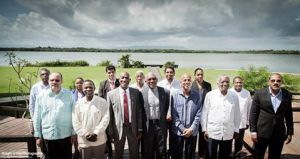 CARICOM Heads of Government pose for a group photo