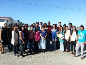 Part of the Sabha's team in Essequibo