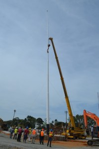 The tallest flagpole in Guyana erected at Durban Park