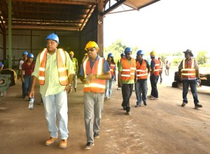 Minister of Natural Resources, Raphael Trotman tours Barama Company Limited as discussions commence for company's operations agreement renewal