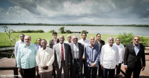 CARICOM Heads of State at the recent meeting in Belize