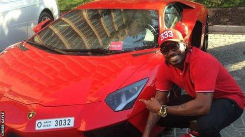 Chris Gayle and his motor