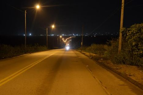A section of the Linden Highway which has street lights