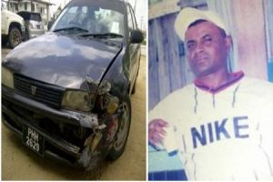 The car that was involved in the accident which resulted in the death of Chrisnauth Kassinauth