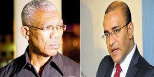 President David Granger and Opposition Leader, Dr. Bharrat Jagdeo