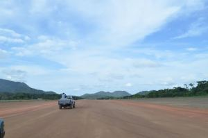 The rehabilitated airstrip at Surama, Region Nine