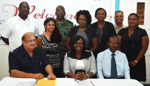 Minister within the Ministry of Public Health, Dr. Karen Cummings and  members of the new GPHC Board