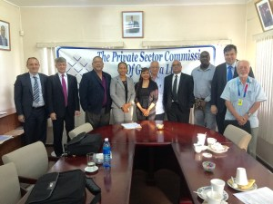 Members of the Private Sector Commission meeting with the IMF team