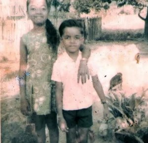 CHILDHOOD DAYS: Bharrat Jagdeo and his sister, Ooma