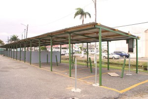 The rehabilitated area where vendors will occupy from Wednesday