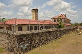 One of the inmate blocks at the Mazaruni Penal Settlement
