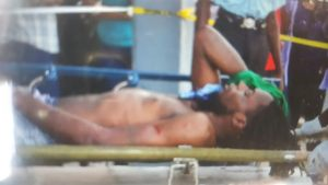 One of the injured prison officer at the GPHC