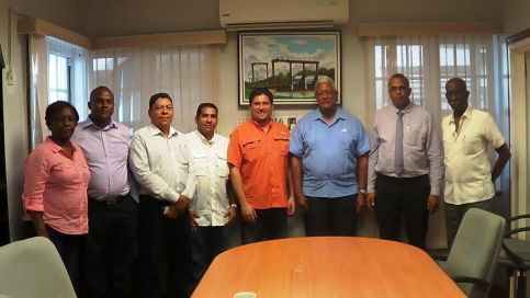 agriculture Minister Hon. Noel Holder earlier today received a courtesy call from representatives of the Institute of Agricultural Marketing out of Panama City.
