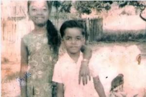 CHILDHOOD DAYS: Bharrat Jagdeo and his sister Shanta during their childhood days