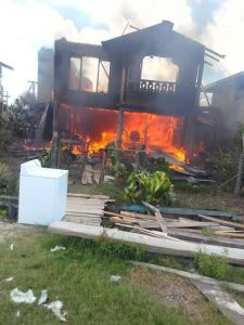 House destroyed by fire in Berbice