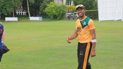 British cricketer Adrian St John, pictured at the Chris Gayle Academy © Twitter