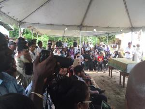 Thousands turned out to pay their last respects to the couple on Wednesday.