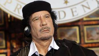 A picture of Moammar Gadhafi taken in 2009