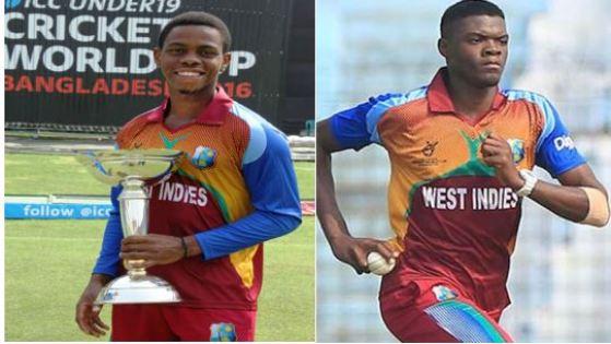 West Indies Under-19 captain Shimron Hetmyer (Guyana Amazon Warriors), fast bowler Alzarri Joseph (St Kitts & Nevis Patriots)