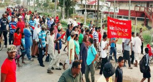 Workers protest closure of Wales Estate