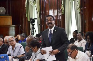 Attorney General Basil Williams in the National Assembly