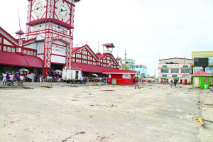 The cleared Stabroek Market Square