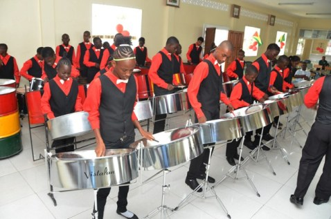 The Buxton Pride Steel Orchestra performing at a recent event