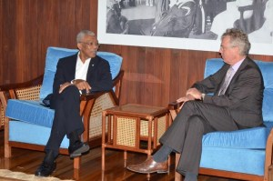 President David Granger and Ambassador of The Netherlands in Suriname, Mr. Ernst Noorman