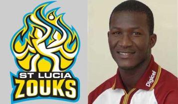 Darren Sammy, captain of the St Lucia Zouiks
