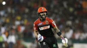 Virat Kohli scored unbeaten 54 runs for his team RCB against DD. (Source: BCCI)