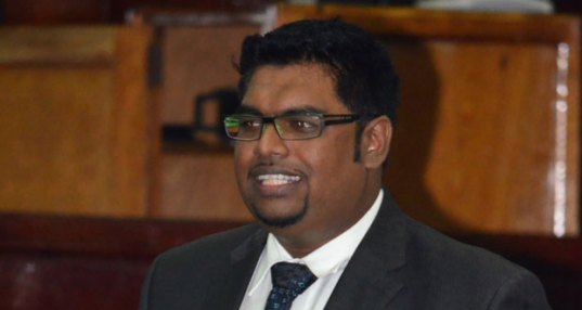 Former Housing Minister Irfaan ALI