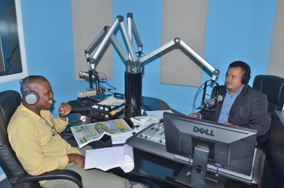 """Former Guyana Flyweight boxing champion Clive Atwell on RGI's """"Sports Vybz"""" with Sports Editor John Ramsingh raising funds for his surgery"""