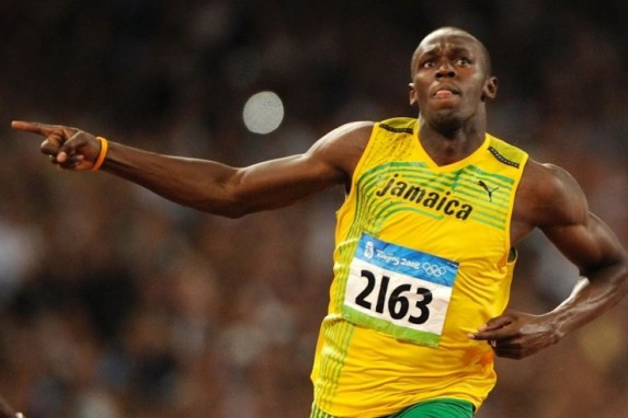 Usain Bolt continues to blow away the competition on and off the track, Forbes said.