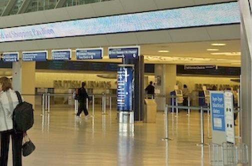 Ticketing area at JFK terminal 7