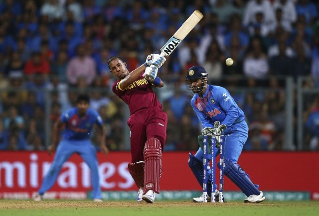 Lendl Simmons, who had problems with his back, was a late pick in the World T20, which West Indies went on to win (Photo: Getty Images)