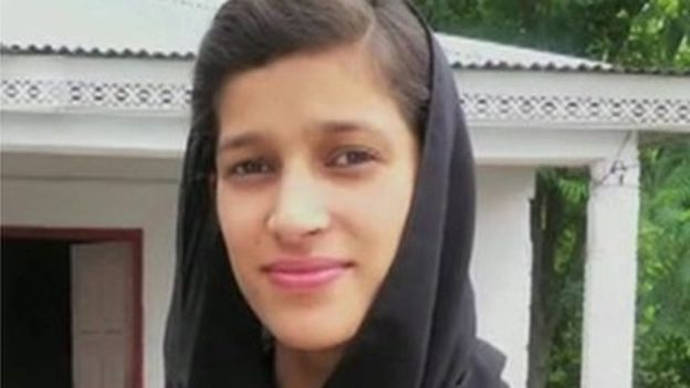 Maria Sadaqat suffered burns all over her body and died three days later (BBC photo)