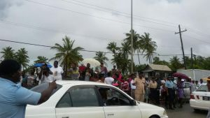 Flood-affected residents of Region Five vent their concerns yesterday