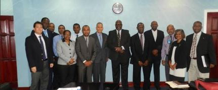 Representatives from Cheddi Jagan International Airport; Caribbean Airlines; the Guyana Civil Aviation Authority; and the Trinidad and Tobago Civil Aviation Authority following the meeting today