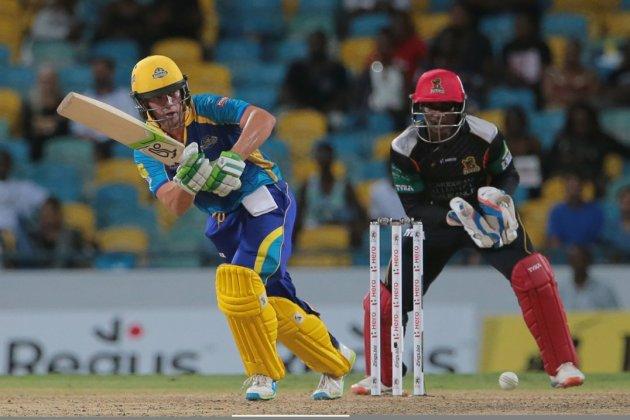 A brilliant innings from AB de Villiers helped the Barbados Tridents to victory in their Hero Caribbean Premier League (CPL) match against the St Kitts & Nevis Patriots (CPL photo)