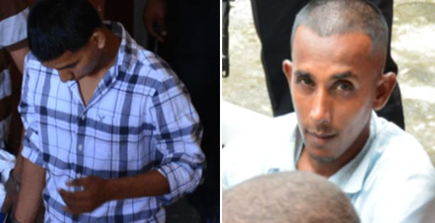 Murder accused: Lennox Baharally and Rondell Edwards