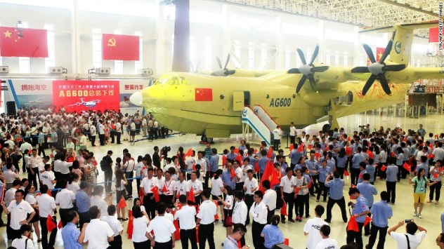 China says the AG600 amphibious plane is the world's largest. (AFP/ Getty Images)