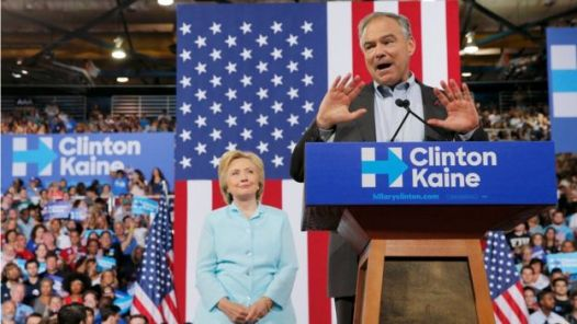 """Virginia Senator Tim Kaine - Democrat Hillary Clinton's newly announced presidential running mate - has made his national debut, saying """"We are all Americans"""". (Reuters photo)"""