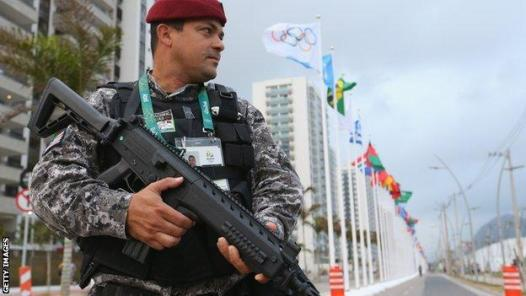 Security is tight in Rio with 85,000 security personnel drafted in (Getty Images)