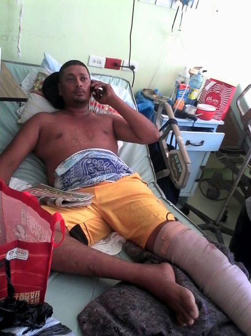 Romeo Ramcharran at the hospital