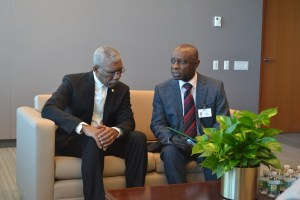 President David Granger and Minister of Foreign Affairs, Mr. Carl Greenidge